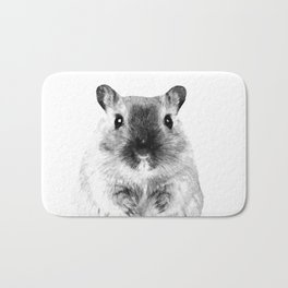 Black and White Hamster Bath Mat