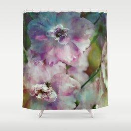 Dramatic Delphinium Shower Curtain