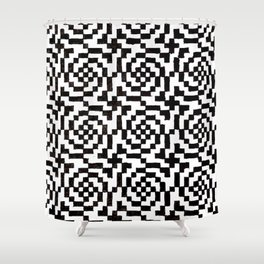 Geometric Black & White Shower Curtain
