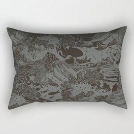 Big waves Dark Rectangular Pillow