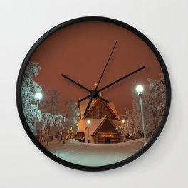 Kiruna Church In the Winter Snow Wall Clock
