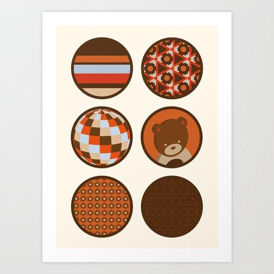 chocolate collection Art Print