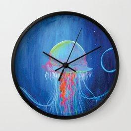 Neon Dreams Wall Clock