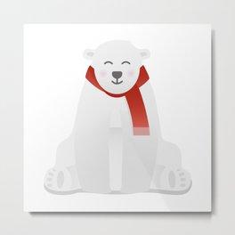 Blushing Bear Metal Print