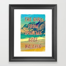 Girl from Ipanema #2 – A Hell Songbook Edition Framed Art Print