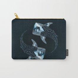 Whale Shark  -  Cornerupine (Trillion cut) Carry-All Pouch