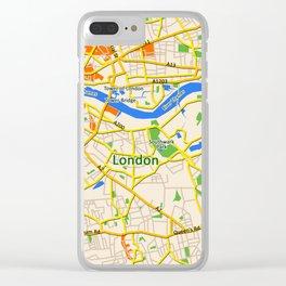 London Map design Clear iPhone Case