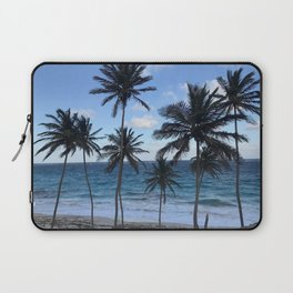 Barbados Beach with Tall Palm Trees Laptop Sleeve