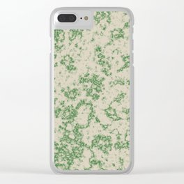 Green Marble Clear iPhone Case