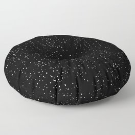 Black and White Speckled Pattern Floor Pillow