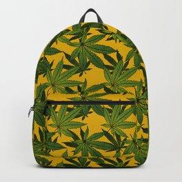 Cannabis Leaf - Gold Backpack