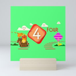 Number four - Kids Art Mini Art Print
