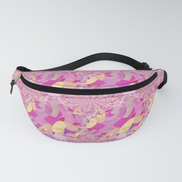 Gold Ribbon Weave Fanny Pack
