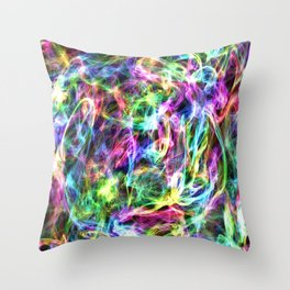 Trapped in Colour Throw Pillow
