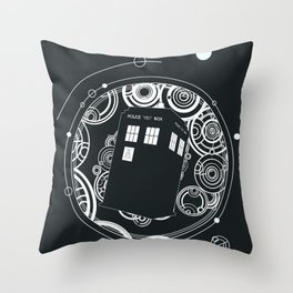 Negative Time and Space - Doctor Who inspired Throw Pillow