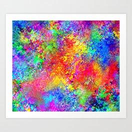 Psychedelic Blacklight Splatter  Art Print