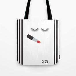 Lipstick & Lashes Tote Bag