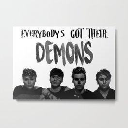 Jet Black Heart - Everybody's Got Their Demons Metal Print