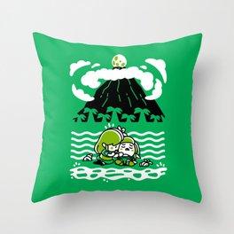 The Castaway Hero III Throw Pillow