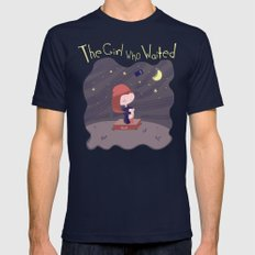 The Girl Who Waited SMALL Navy Mens Fitted Tee