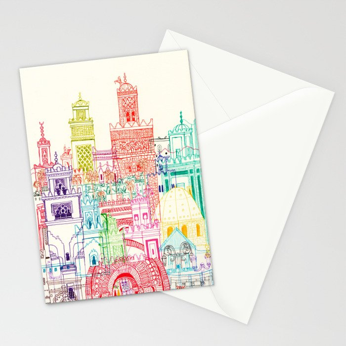 Marrakech Towers  Stationery Cards