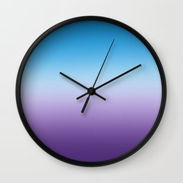 Hydrangea Blue And Purple Ombre Wall Clock