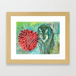 Wolf: Fierce Hope Framed Art Print
