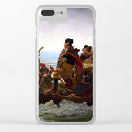 Washington Crossing The Delaware River Clear iPhone Case