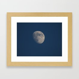This side of the moon Framed Art Print