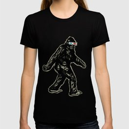 GONE SQUATCHIN' WITH 3D GLASSES T-shirt