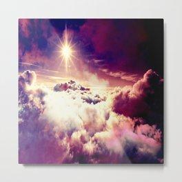 Mystic clouds. Mauve Metal Print