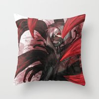tokyo ghoul Throw Pillows featuring tokyo ghoul by keiden