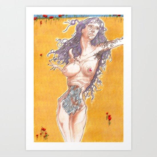 Mother fish ? Art Print