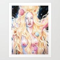 venus Art Prints featuring VENUS by Daniel Fernández