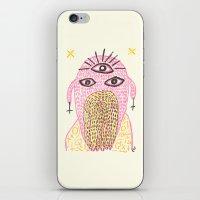 third eye iPhone & iPod Skins featuring Third Eye by Nü Köza