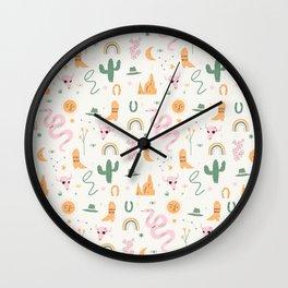 Wild West Pattern Wall Clock