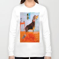dachshund Long Sleeve T-shirts featuring Dachshund by Caballos of Colour