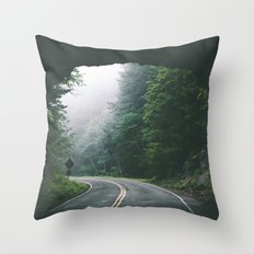 Through The Tunnel Throw Pillow
