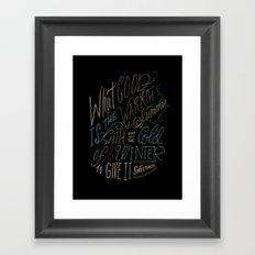 WINTER - Steinbeck Quote Framed Art Print