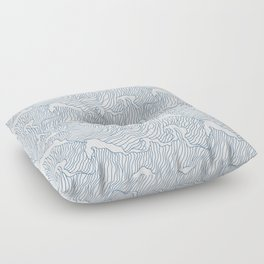 Japanese Wave Floor Pillow