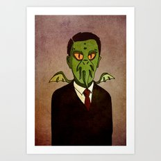 Prophets of Fiction - H.P. Lovecraft /Cthulhu Art Print