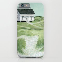 Cottage on the beach iPhone Case
