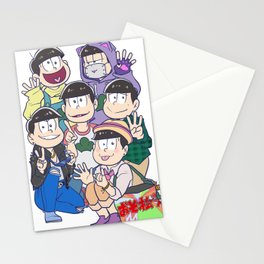 6 Same Faces Stationery Cards