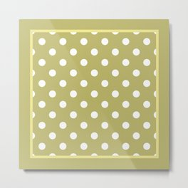 Khaki Polka Dots Palm Beach Preppy Metal Print