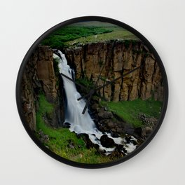 North Clear Creek Falls Summer Green Wall Clock