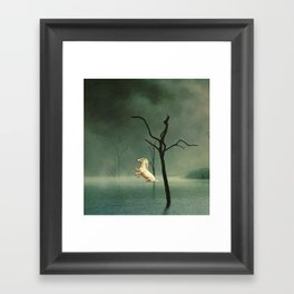 Drain The Swamp Of Sadness Framed Art Print