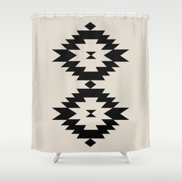 Southwestern Minimalism - Black Shower Curtain
