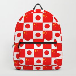 Mix of flag: China and Japan Backpack