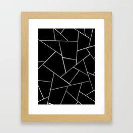 Black White Geometric Glam #2 #geo #decor #art #society6 Framed Art Print