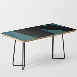 teal and black abstract Coffee Table